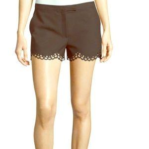 Elizabeth and James black scallop hem shorts